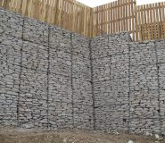 Gabion Retaining Wall Devoran Garden Gabions at Devoran Metals in Cornwall.