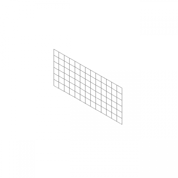 1m x 0.5m gabion separating panel