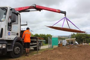 Delivering mesh to site in Penryn